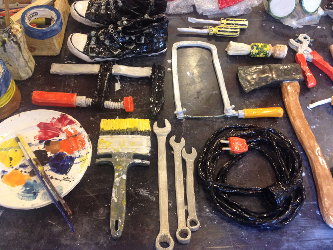 1RE_Various-Objects-for-SoloShow_TABLEAU_Paperclay_2015_009