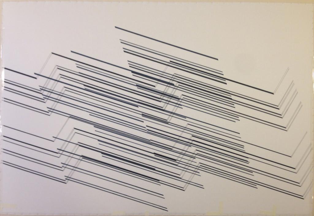 Barok serie, Lateran fra 2015-16. Håndtryk, reaktiv farve, bomuld.
