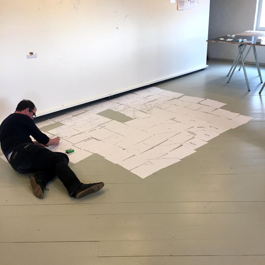 Arkitekt Thomas Skovgaard udarbejder arkitektonisk model