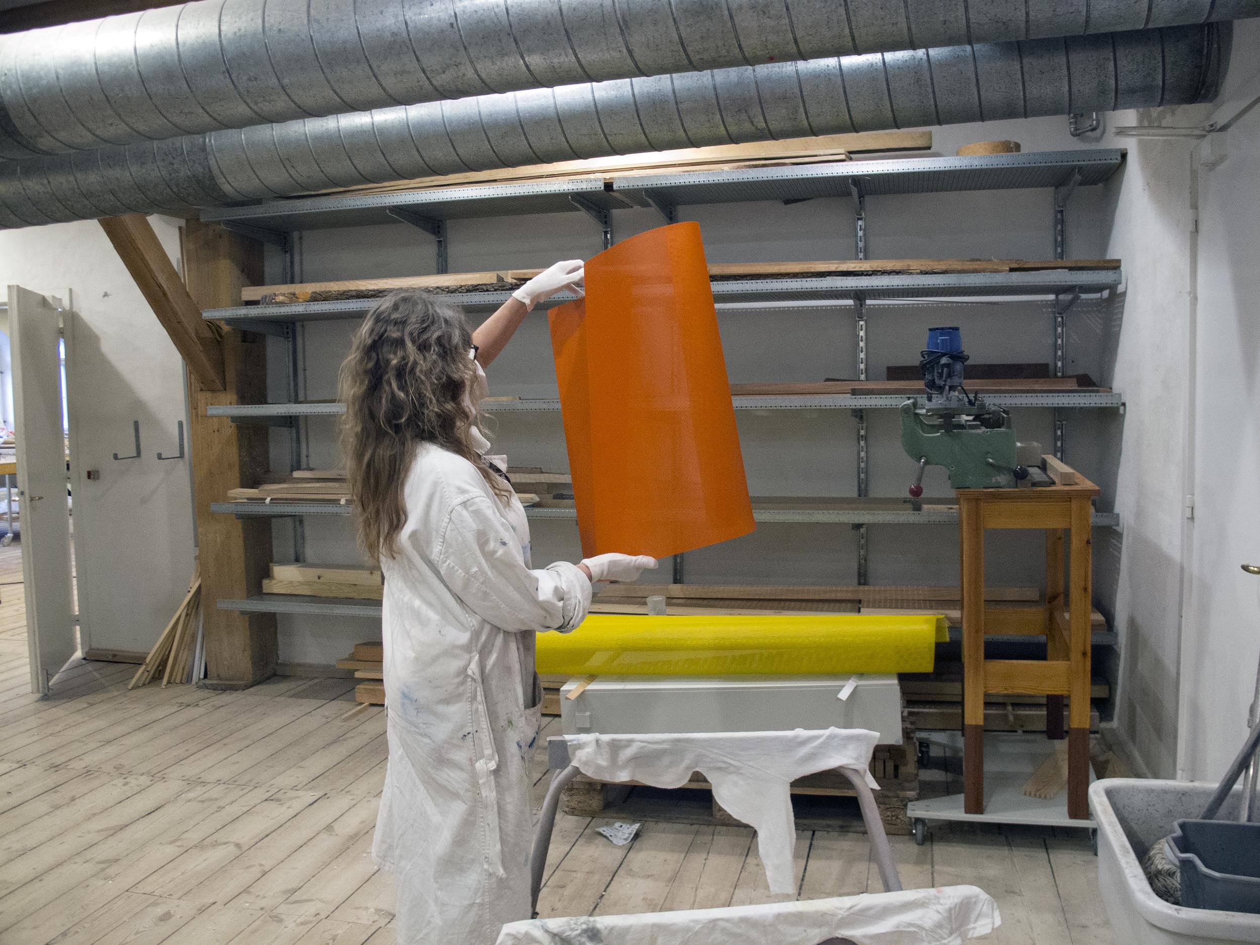 Lysobjekter til kunstnerisk udsmykning af Dansk Center for Partikelterapi, Aarhus Universitetshospital