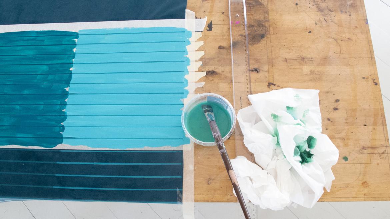 Eksperimenter med farvemontering på velour