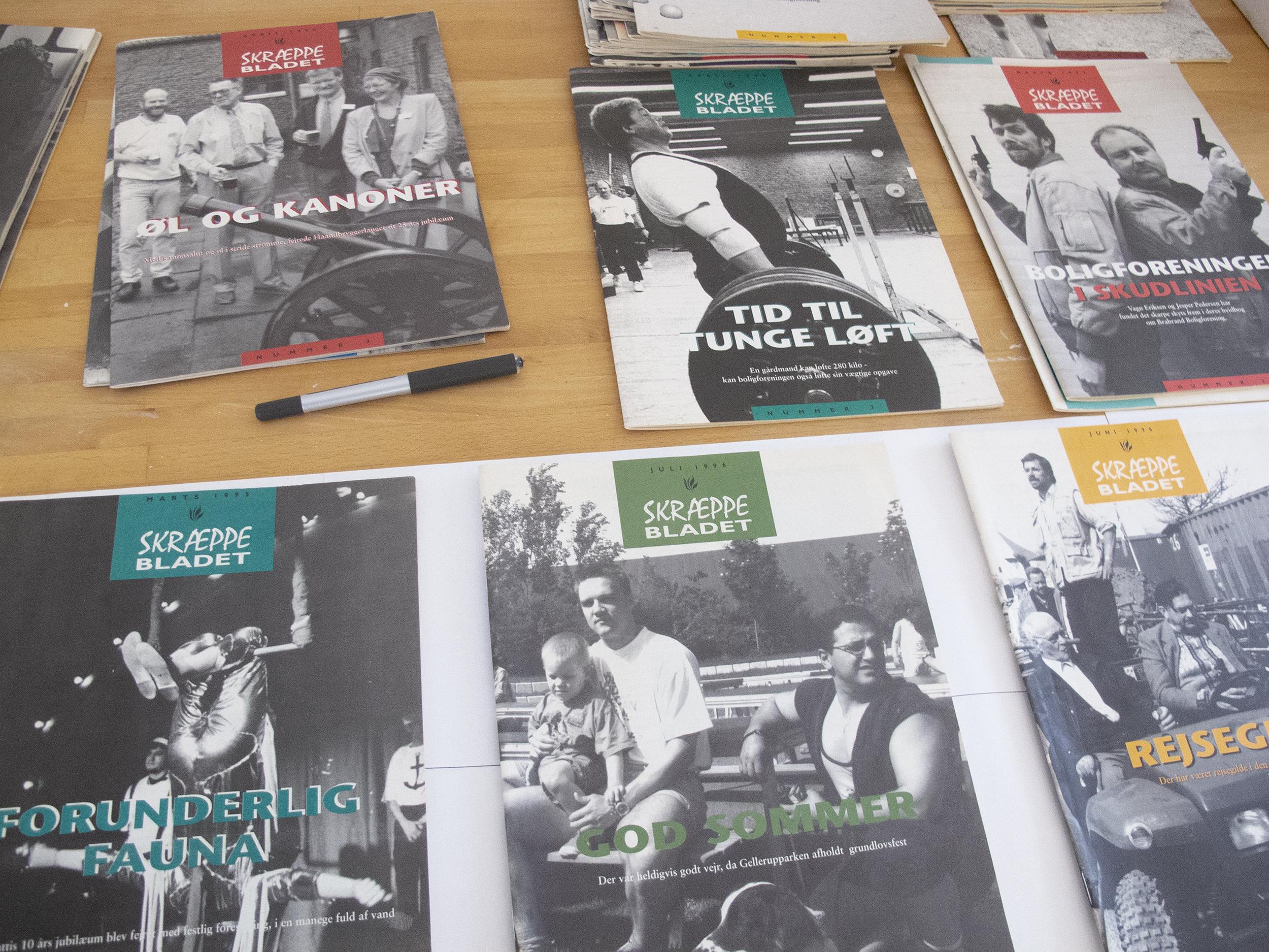 Gamle udgivelser af Skræppebladet